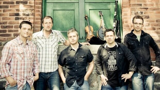 Poor Angus, from left: Joel Guenther, DJ Moons, Ross Griffiths, Brian LeBlanc and Andrew Bryan.
