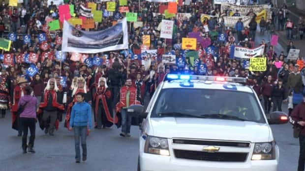 More than 600 protestors gathered in Prince Rupert, B.C., on Friday to oppose Enbridge's proposed Northern Gateway pipeline from Alberta's oilsands to Kitimat, a port on the northern B.C. coast.