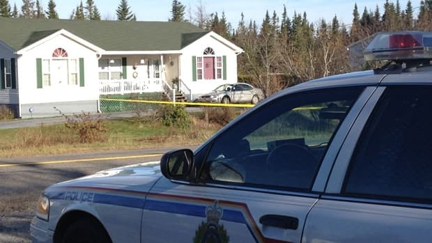 Police remain at the scene of a deadly shooting in Baxters Corner Saturday evening.