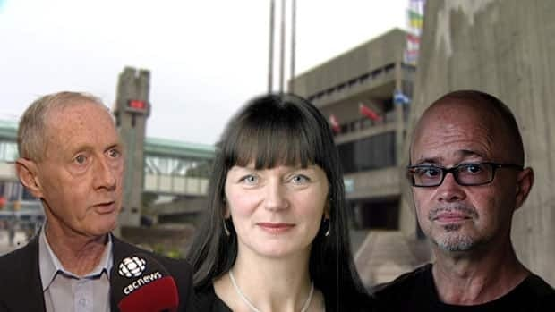 Dennis O'Keefe, Sheilagh O'Leary and Geoff Chaulk are running for mayor in the Sept. 24 municipal election.