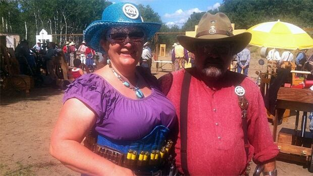 Gerry and Chuck McCann (aka Granny Sharp Shooter and Grey Beard) say the best part of the Western Canadian Competition is the camaraderie.