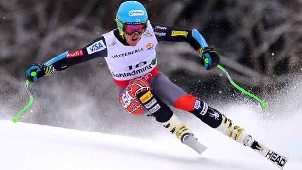 Ted Ligety skis the Planai in the men's super-G in Schladming, Austria, on Wednesday.