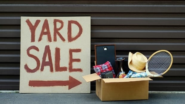 In an effort to slay its debt and simplify its life, one Montreal family held a number of yard sales on its way to paring its belongings down to 100 things.