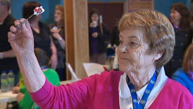 Margaret Pike, 75, of West St. Modeste, is the oldest competitor at the Labrador Winter Games.