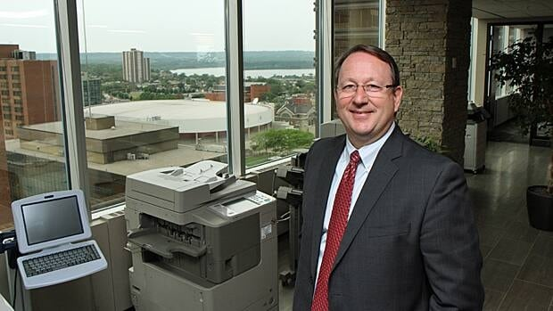 Ian Macfarlane of Canon Canada says his company is bringing more than 40 new jobs to King Street West because Hamilton is a growing market.
