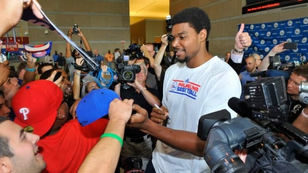Andrew Bynum was traded to the Philadelphia 76ers last summer as part of a four-team blockbuster.