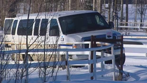 The sheriff's van taken from the courthouse was found on a rural property outside of Whitecourt.