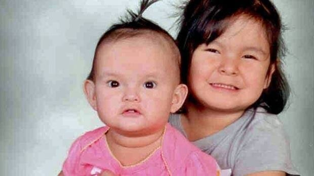"""Six-year-old Kaylene """"Banny"""" Nothing and one-year-old Rebecca """"Blaze"""" Sainnawap, as well as their 21-year-old aunt were killed in a house fire in Wunnumin Lake on May 8."""