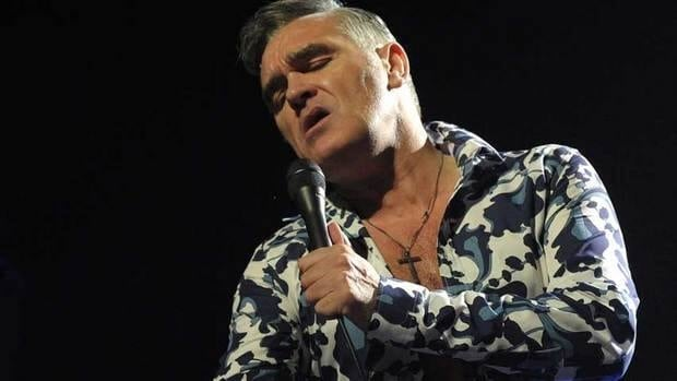 British singer Morrissey performs Jan. 18 in Reading, Pa. He was hospitalized Jan. 26 and now has cancelled a string of U.S. shows.