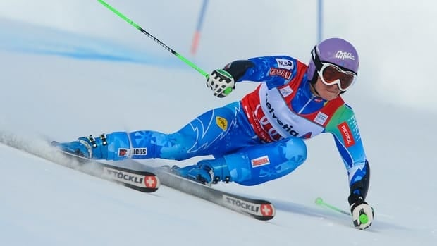 Tina Maze of Slovenia won her third straight women's giant slalom on Sunday in St. Moritz, Switzerland.