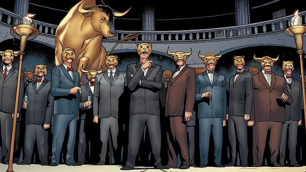 In the new Valiant Comics title Archer & Armstrong, The One Percent is a secretive and sinister cabal of money managers and financiers steering the fate of the world for its own gain.