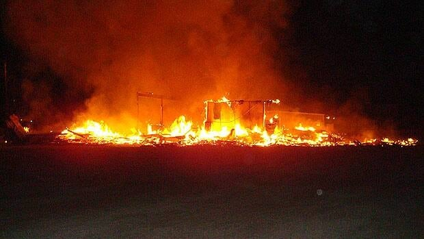 The Crane River community centre was consumed by fire on Sept. 24.