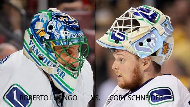 The Canucks find themselves in an enviable position, with veteran Roberto Luongo and the much younger Cory Schneider playing goalie for them.