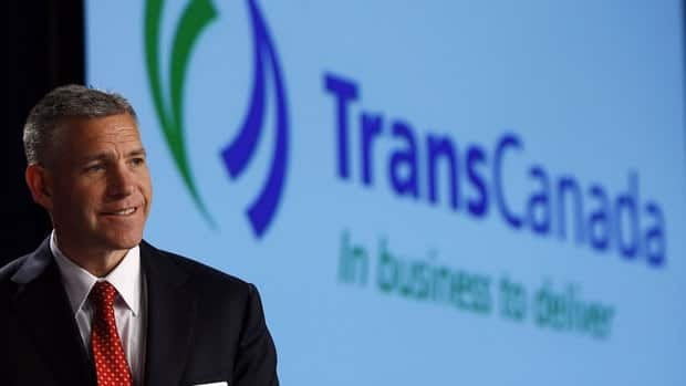 Russ Girling, president and CEO of TransCanada Corp., addresses the company's annual meeting in Calgary on Friday.