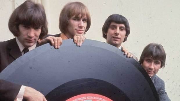 The Troggs, shown in 1966, Peter Staples, Chris Britton, Ronnie Bond and Reg Presley. Lead singer Presley died Monday.
