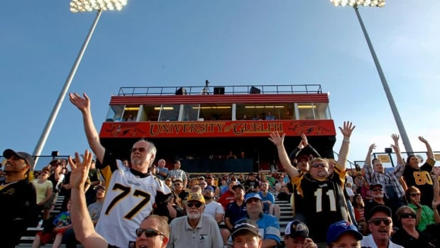 The Hamilton Tiger-Cats played a CFL pre-season game against Winnipeg last month at Alumni Stadium in nearby Guelph, Ont.
