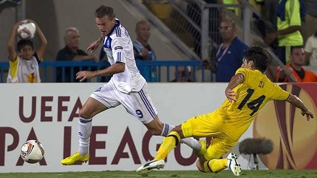 Andriy Yarmolenko, left, is a player to watch at Euro 2012. The winger loves to cut inside from the right, and strikes the ball well with his left foot. He will look to link-up with Andriy Shevchenko in attack.