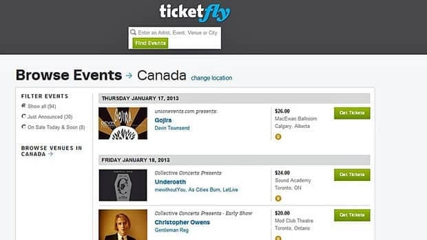 San Francisco-based Ticketfly has reached deals with national event promoter Union Events and Toronto-based Collective Concerts to sell tickets online.