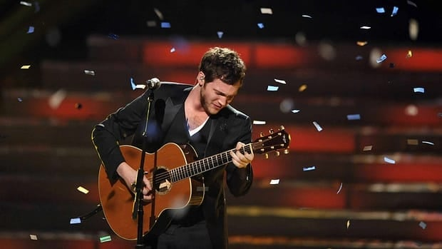 Winner Phillip Phillips performs onstage at the American Idol Finale on Wednesday in Los Angeles.