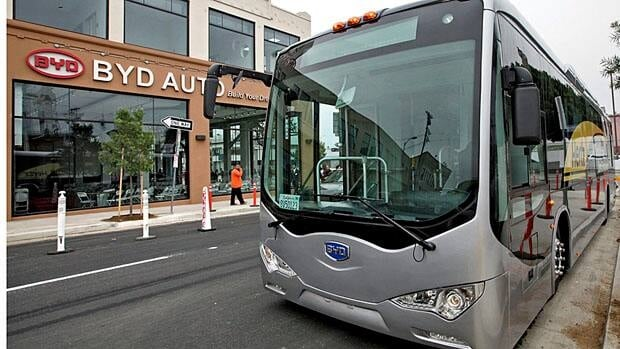 BYD was to open a North American manufacturing plant in Lancaster, Calif., this spring.