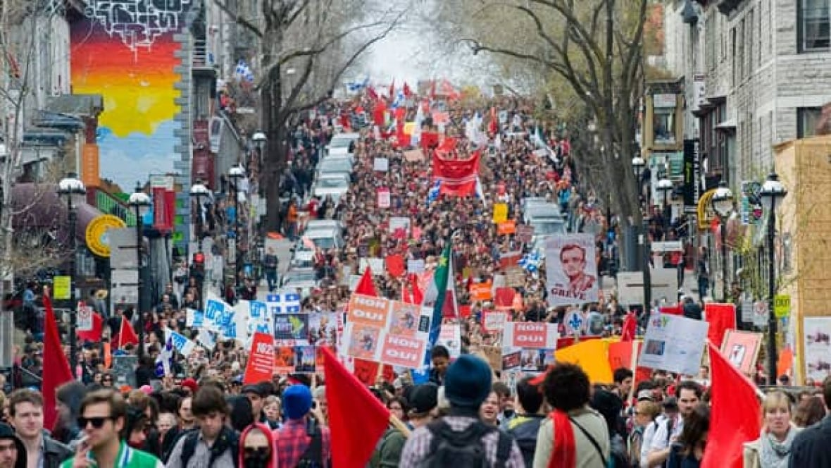Merediths Garden Blog: Montreal Student Protest March
