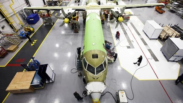 Bombardier has signed a preliminary agreement worth $3.4 billion to sell its Q400 airplane, above, in Russia.