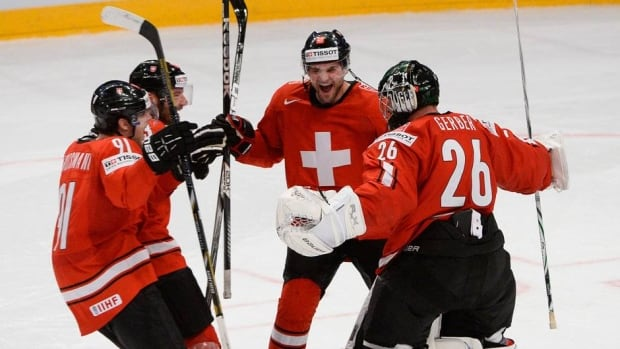 Sunday's 3-2 shootout win marks only the second time Switzerland has defeated Canada at the world hockey championship.