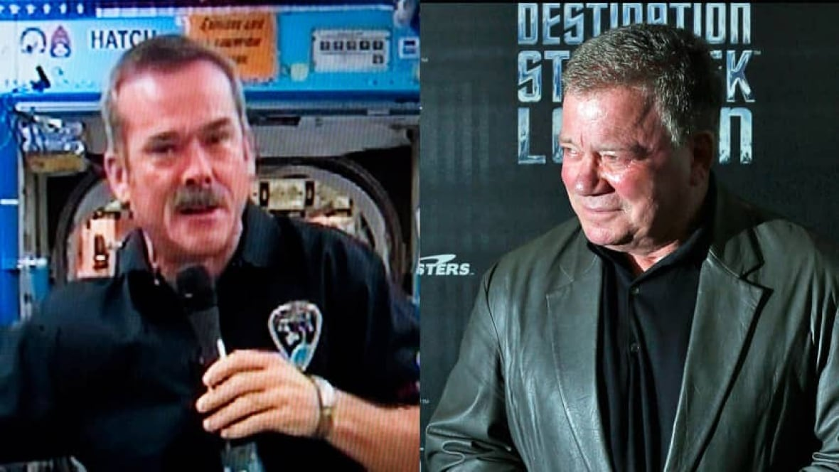 captain kirk calls chris hadfield at space station