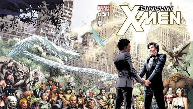 Canadian character Jean-Paul Beaubier, or Northstar, will marry his beau Kyle Jinadu in the pages of Astonishing X-Men No. 51, due out June 20