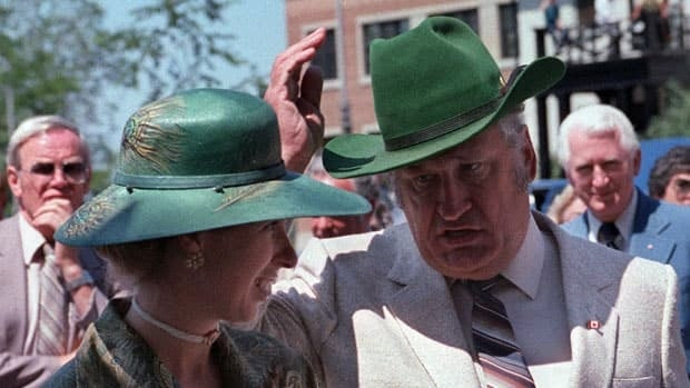 Eugene Whelan, seen with Princess Anne, served as the Liberal MP for Essex-Windsor in southwestern Ontario from 1962 until 1984.