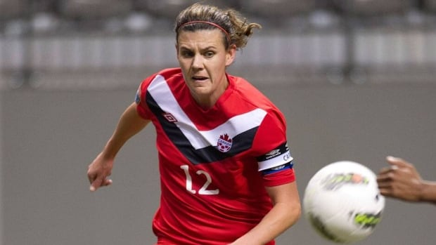 Christine Sinclair, shown in this file photo, and her Team Canada teammates couldn't score on England in their Cyprus Cup final match on Wednesday.