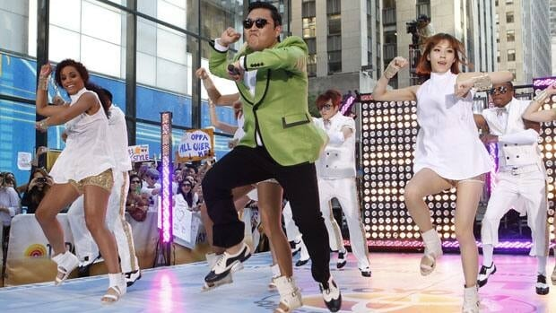 South Korean rapper Psy performs his massive K-pop hit 'Gangnam Style' live on NBC's 'Today' show, Friday, Sept. 14, 2012, in New York.