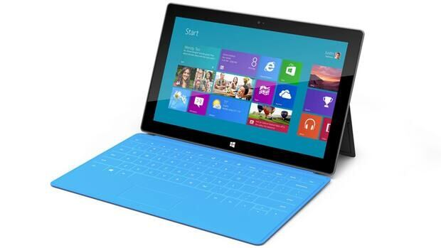 The Microsoft Surface is a 9.3 millimeter thick tablet with a kickstand to hold it upright and keyboard that is part of the device's cover. The device is part of the software company's effort to compete with Apple Inc. and its popular iPad tablet computer.