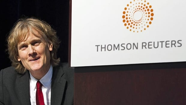 Thomson Reuters chairman David Thomson looks on at the company's annual general meeting. Thomson's family remains Canada's richest by a wide margin.