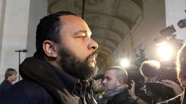 French humorist Dieudonne M'bala M'bala, shown in November 2011, will not appear in Montreal next week after Jewish groups raised objections over his anti-Semitic act.