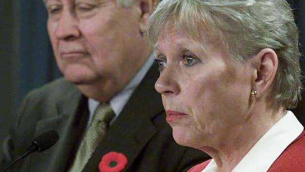 Senator Joyce Fairbairn, shown in 2001, will not be on Parliament Hill this fall when the Senate resumes because she has dementia.
