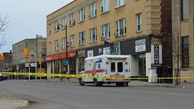 Police sealed off the area of May and Violet Streets on Wednesday following a 911 call.