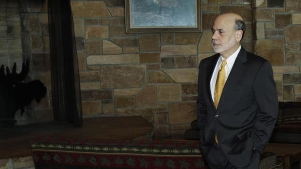 Federal Reserve Chairman Ben Bernanke arrives for a dinner at the Jackson Hole Economic Symposium on Aug. 30, 2012.