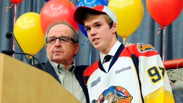 Connor McDavid, right, tallied better than a point a game as an underage OHL rookie with Sherry Bassin's Erie Otters.