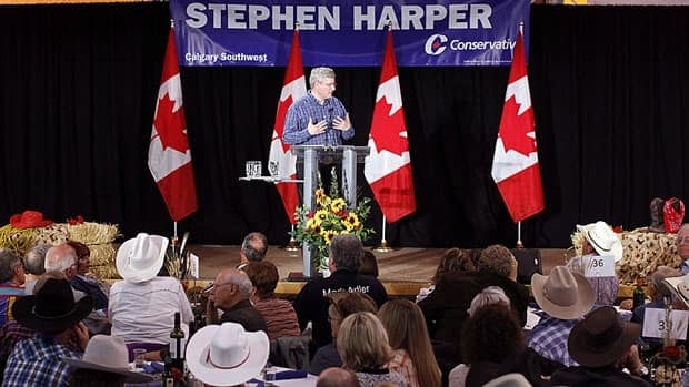 Prime Minister Stephen Harper spoke to his Calgary riding association on Saturday, July 6, 2013. His is the richest Conservative riding association, according to recent Elections Canada files.