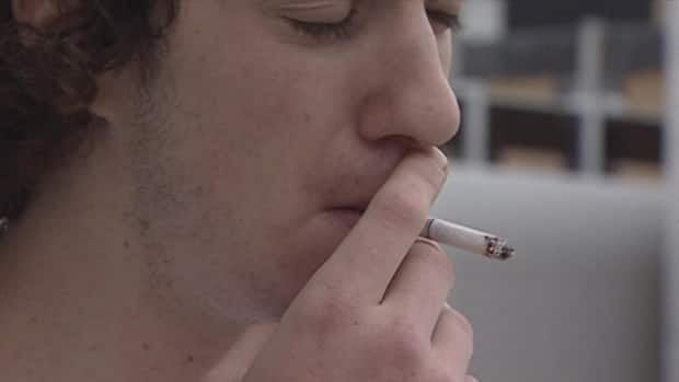 Smoker Carson Evans said he doesn't like the idea of having to go off campus to smoke a cigarette.