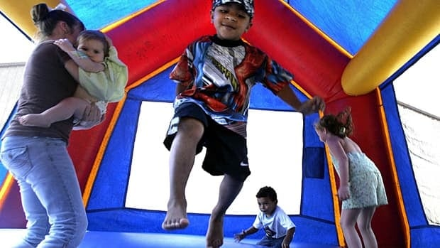Most bounce house injuries result from children falling inside or out of the inflated playthings or from colliding with other bouncing kids.