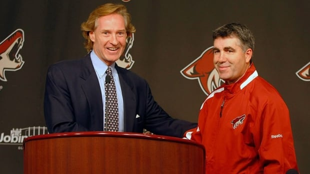 Phoenix Coyotes general manager Don Maloney, left, and head coach Dave Tippett have new ownership in place to help them focus on putting a better hockey product on the ice in the desert.
