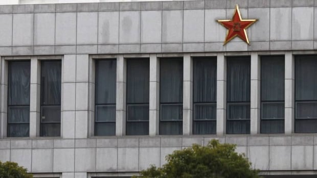 Part of the building of Unit 61398, a secretive Chinese military unit, is seen in the outskirts of Shanghai.