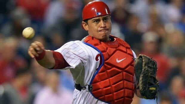 Philadelphia Phillies catcher Carlos Ruiz was an All-Star for the first time this year when he hit .325 with 16 homers and 68 RBIs.