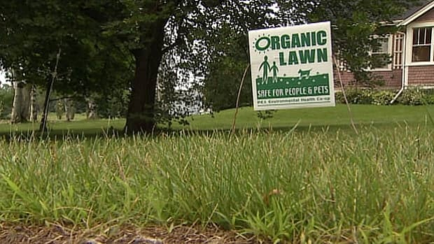 Some Stratford homeowners are demonstrating their support for more pesticide regulation on their front lawns.