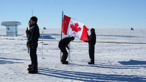 A memorial ceremony was held in Antarctica for three Canadians killed when their plane crashed into a mountain last week.