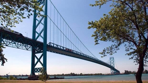 A bomb threat Monday evening closed the Ambassador Bridge, which spans the Detroit River dividing Canada and the U.S., for several hours.
