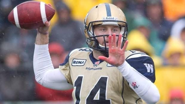 Winnipeg Blue Bombers quarterback Joey Elliott threw for over 2,100 yards in 2012.