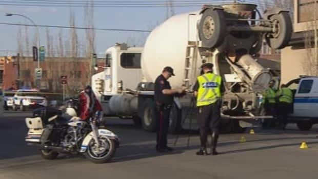 A man is dead after being hit and then dragged by a cement truck last night.